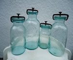 Rare Early Millville Atomospheric Fruit Jar Lot 4 Jars